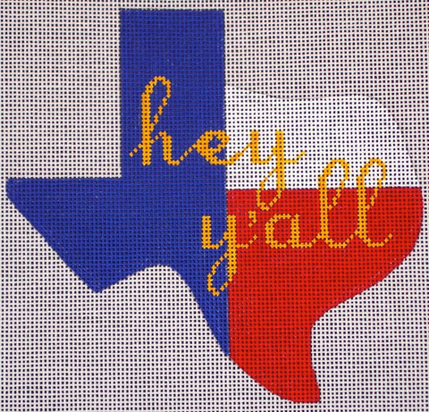 Texas State Ornament - Hey Y'all T101