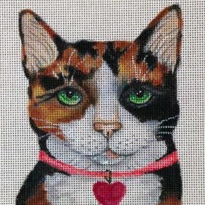 Valentine Calico Cat