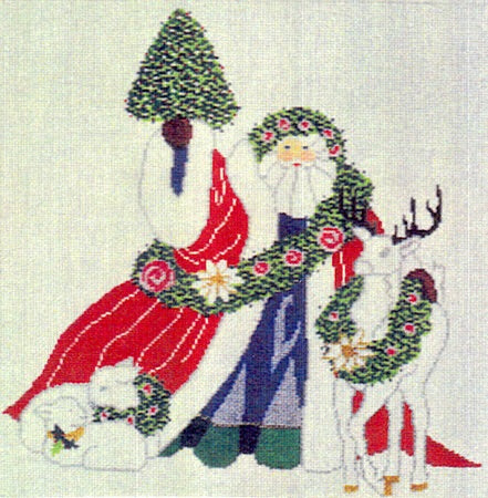 Father Christmas Square Pillow
