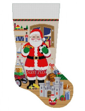Santa w/ Castle, boy toys, stocking