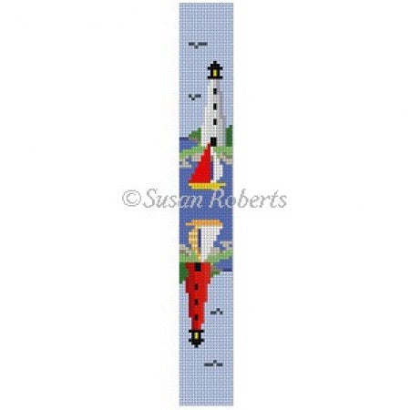 Sailboats & Lighthouses, key fob