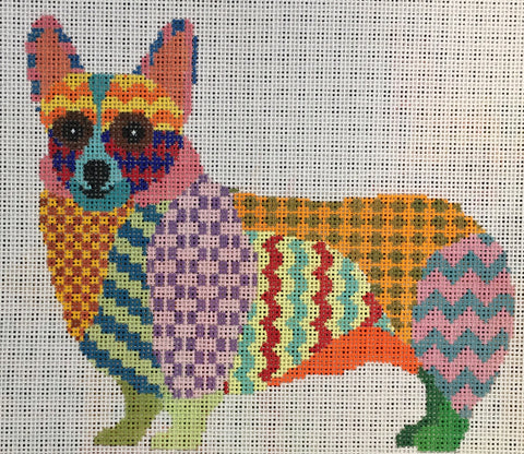 Colorful Corgi (Patt-218-18m)