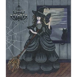 Black Witch with Cat