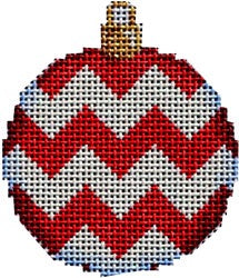 Red Chevron Mini Ball