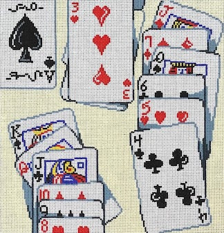 card collage, solitaire