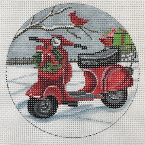 Christmas Scooter Ornament