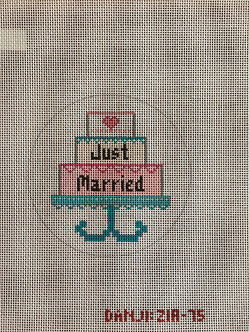 Just Married Cake Ornament