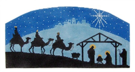 Nativity Scene Silhouette Stand Up Bestitched Needlepoint Share the miracle of christmas with passersby by adding a silhouette of the nativity to the front of your house. nativity scene silhouette stand up