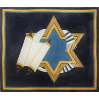 Torah and Scrolls with Star