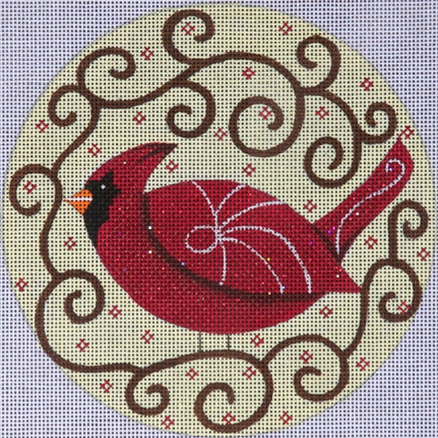 6 inch Red Cardinal Ornament