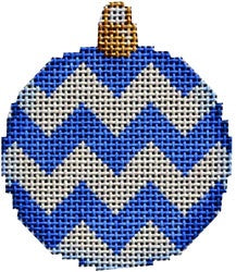 Blue Chevron Mini Ball