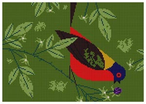 Painted Bunting  HC-P249