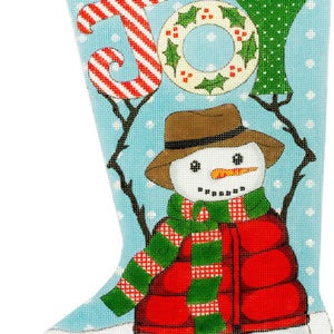Snowman Joy Stocking
