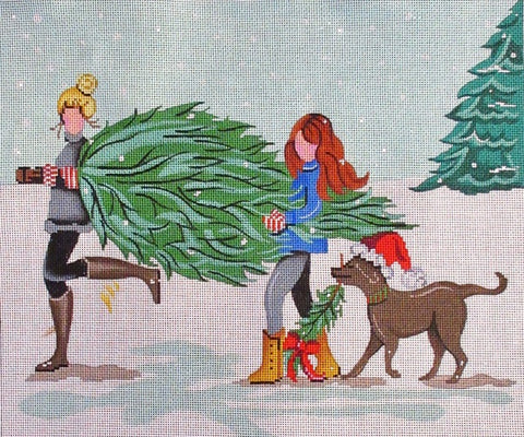 Carrying the Christmas tree