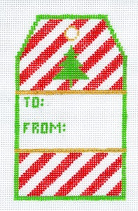 Striped Gift Tag: To & From XO-198a