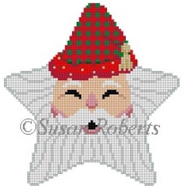 Star, Santa Face, Checker Hat