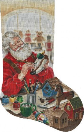 Wood Carving Santa stocking