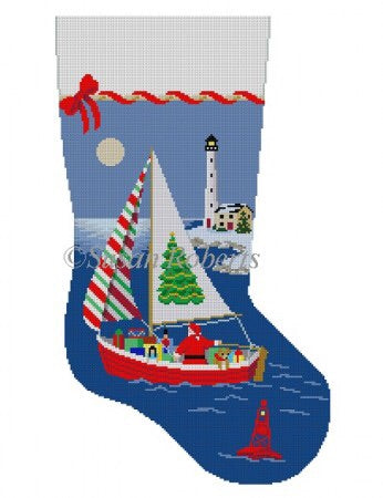 Sailing Santa, stocking