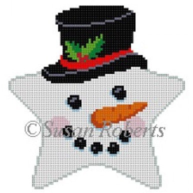 Star, Snowman Face, top hat