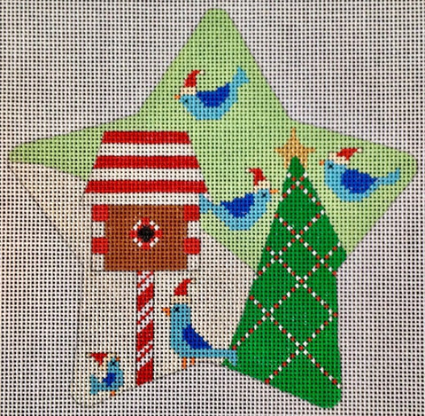 Santa Birds  Star Traditional Colors CH122DT