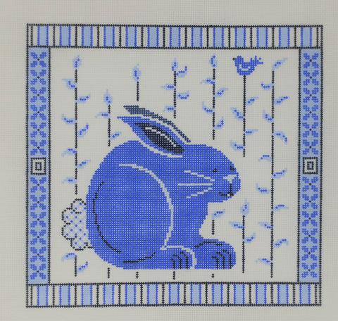Blue and white bunny