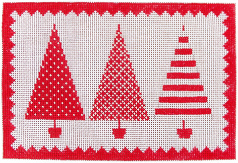 Red & White Christmas Tree Trio