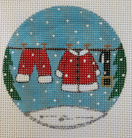 Santa Clothesline Ornament