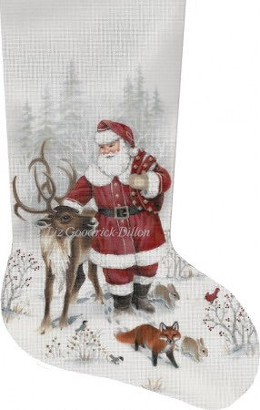 Santa & Reindeer, stocking