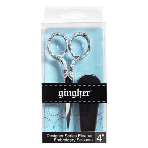 "Gingher Designer Series Eleanor 4"" Embroidery Scissors"