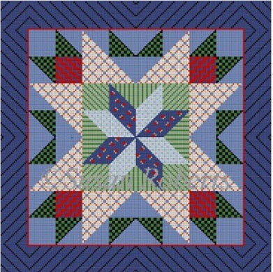 Patchwork Star, quilt