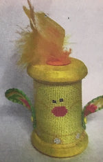 Easter Chick Spool Ornament