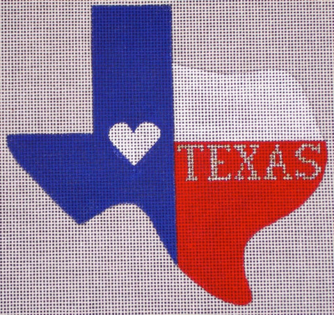 Texas State Ornament - Heart Texas T101C