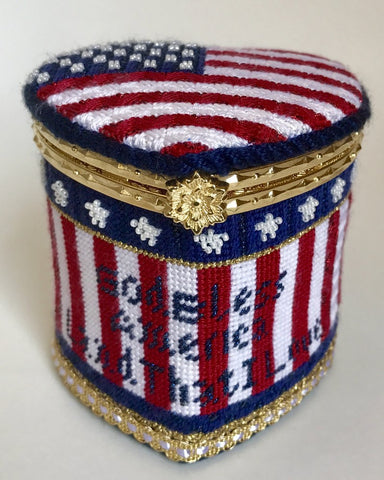 God Bless USA Hinged Box with Hardware