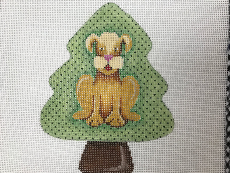 tree shaped orn. Doggie 22305