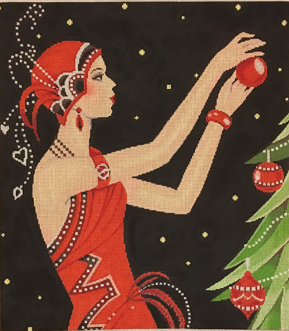 Art Deco Lady Christmas