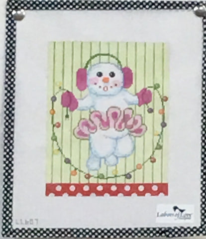 Jump Rope Snow Girl