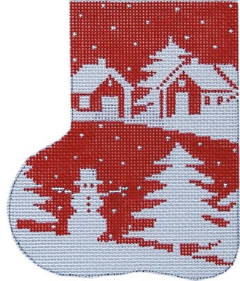 Red Silhouette Christmas Mini-Sock