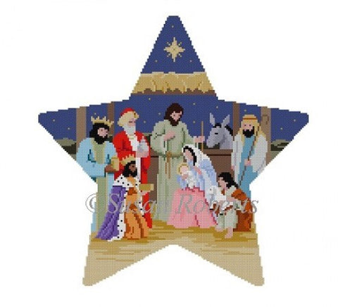 Tree Topper, Star Nativity