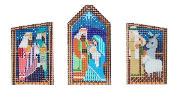 Triple Nativity Set (All on One Canvas)