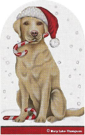 Candy Cane Yellow Lab