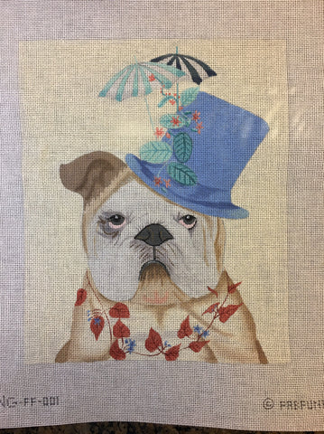 Bulldog with Millener's Hat