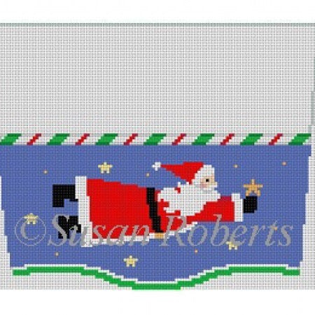 Santa Flying, stocking topper