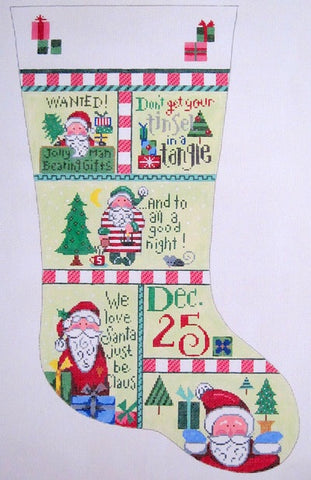 stocking, Christmas patchwork