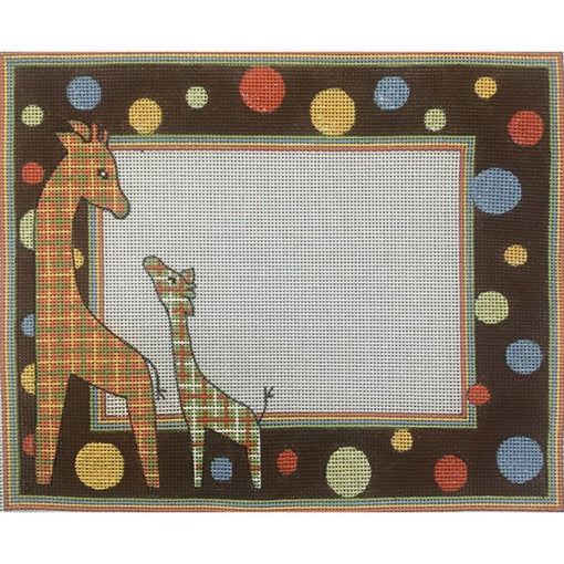 Patterned Giraffe Birth Announcement