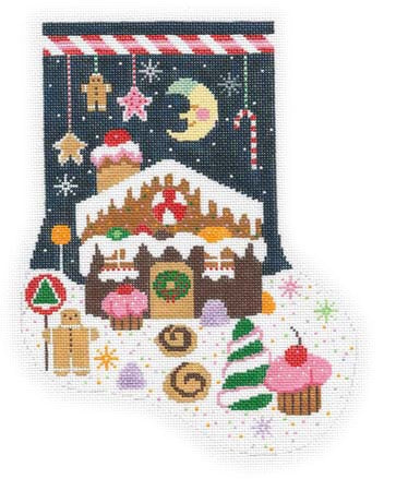 Gingerbread House Sock