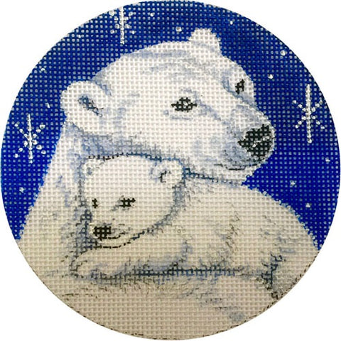 Mama and Cub Polar Bears Ornament