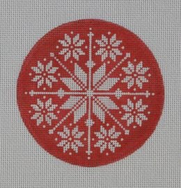 Red/White Snowflake