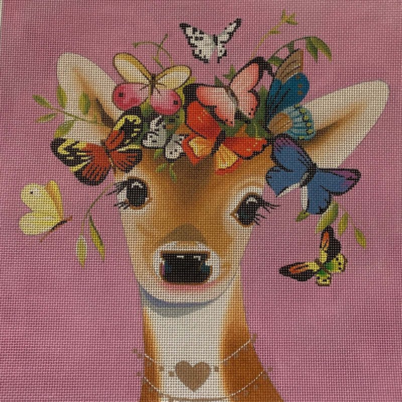 AN405 - deer with butterfly
