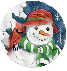 Snowman and Cardinal Ornament