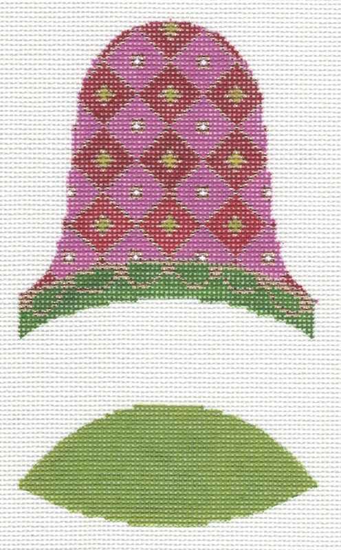 Dimensional Bell Pink and Green LL421G